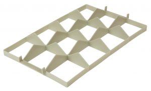 Fachwerkeinsatz für Gläserkorb 3x4 oben