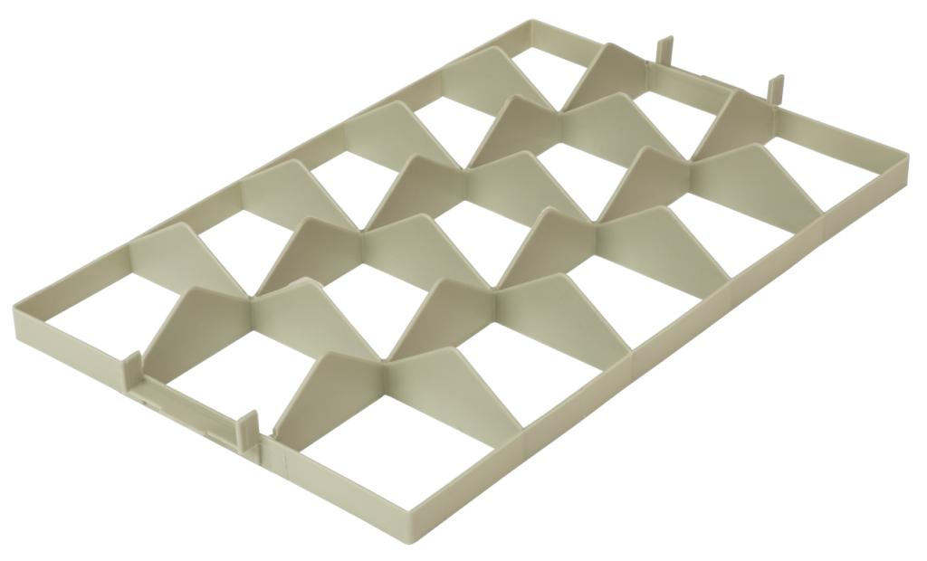 Fachwerkeinsatz für Gläserkorb 3x5 oben