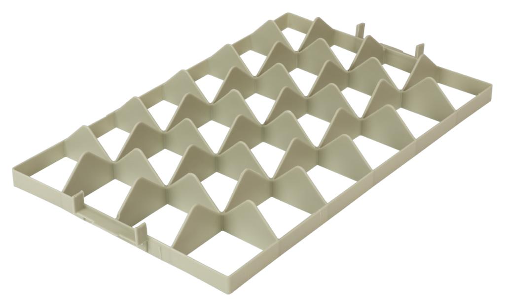 Fachwerkeinsatz für Gläserkisten 4x6 oben