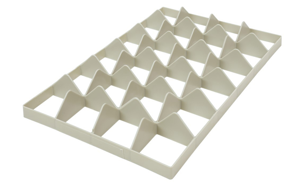 Fachwerkeinsatz für Gläserkisten 4x6 unten